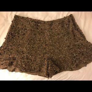 Zara Sequin Shorts